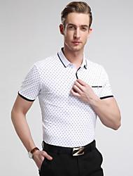 Men's Casual/Sport/Plus Sizes Print Short Sleeve Regular tennis shirt polo shirt (Cotton/Lycra)