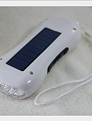 3 in 1 solar dynamo digitale FM-radio met 5-LED-zaklamp multifunctionele radio