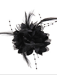 Black Feather Flower Fascinators for Wedding/Party Headpiece