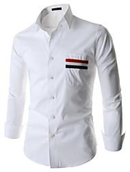 Men's Work/Formal Long Sleeve Regular Shirts (Cotton Blends/Polyester)