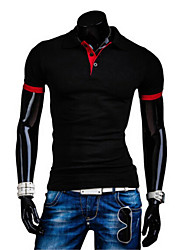 Handsome Men's Casual Shirt Collar Short Sleeve T-Shirts