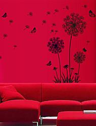 Natural Black pissenlit mur de PVC sticker mural décalcomanies