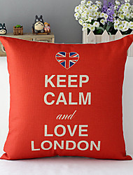 Country Style Keep Calm Cotton/Linen Decorative Pillow Cover