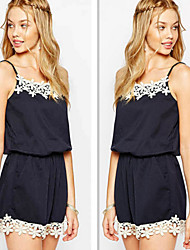 Women's Casual/Lace Straps Sleeveless Jumpsuit (Polyester)