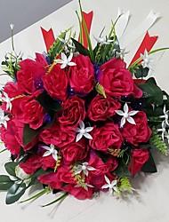 Buquês ( Azul/Fúcsia/Rosa/Vermelho , Cetim ) - de Rosas