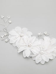 Women's Flower Girl's Alloy Imitation Pearl Headpiece-Wedding Special Occasion Flowers 1 Piece