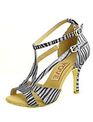 Zapatos de baile ( Plata/Oro ) - Danza latina/Salsa - Personalizados - Tacón Personalizado