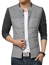 Men's Korean Casual Stitching Slim Jacket