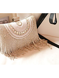 Exquisite diamond pearl hand bag