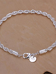 Sterling Silver Bracelet Chain & Link Bracelets Wedding/Party/Daily/Casual 1pc Jewelry Christmas Gifts