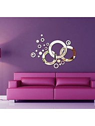 Mirror Wall Stickers Wall Decals, Circle DIY Mirror Acrylic Wall Stickers