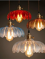 The copper cap Retro Old Shanghai flower glass chandelier