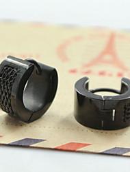 Fashion Men's 316L Stainless Steel Hoop Earrings 2pcs