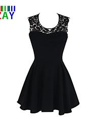 ZAY Women's Sexy Backless Halter Sleeveless Party Slim Dress