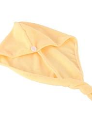 Yellow Microfiber Hair Cap Quick Fast Drying Bath Towel