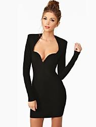 Cocktail Party Dress - Black Petite Sheath/Column Square / Sweetheart Short/Mini Lace / Spandex / Rayon / Nylon Taffeta