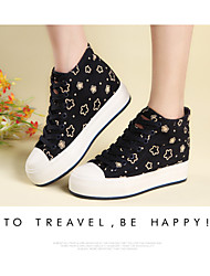 Women's Shoes Canvas Shoes The Stars Are Large Base Sponge Cake Increased Contact Within More Colors Available X1168