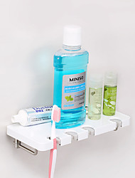 CRW Contemporary Painting Wall Mounted Toothbrush Holder with Hook