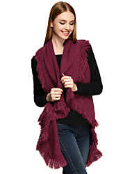 CSZM  Women's Fashion Poncho Red Color Vintage Style Winter Casual Cardigan Cotton Sweater Cardigan Long Sleeve Loose