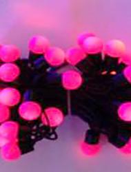 6w 5 metro di diametro esterno lampadina 50pcs ha condotto le luci della stringa di modellazione piccole luci a sfera, colore rosa,