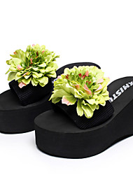 2015 new summer fashion slippers anti slide  female muffin beach shoes with  thick bottom