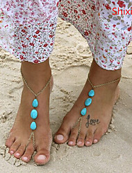 Shixin® Alloy/Emerald Anklet Daily/Casual 1pc
