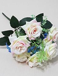 7 ramos de bela rosa artificial