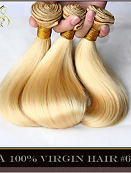 "3 Pcs Lot 14""-30"" Platinum Bleach Blonde Indian Virgin Hair Straight Color 613# Remy Human Hair Extensions Weave Bundles"