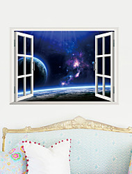 3D Wall Stickers Wall Decals, Beautiful Landscape PVC Wall Stickers