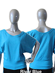 Cotton/Lycra Loose Style Short Sleeve Off-shoulder T-shirt More Colors for Girls and Ladies