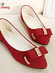 rilihong®Women's Shoes Flat Heel Pointed Toe/Closed Toe Flats Casual Black/Blue/Red