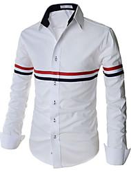 Men's Work Long Sleeve Regular Shirts (Cotton Blends/Polyester)