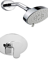 Rain Waterfall Bathroom Showerhead W/ Tub Spout Chrome Shower Faucet