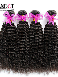 "8""-30"" Natural Black 6A Peruvian Curly Hair Weave 4Pcs/Lot 100% Unprocessed Peruvian Virgin Kinky Curly Hair"