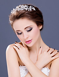 Women's Rhinestone / Alloy / Imitation Pearl Headpiece-Wedding / Special Occasion Tiaras / Headbands 1 Piece