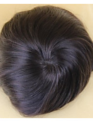 """Indian Hair Mens Hairpieces Monofilament Men's Toupee 6"""" Fine Remy Human Hair 6""""x8"""" Hairstyle System"""