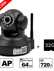 besteye® 32 GB TF-kaart en h.264 wifi ip camera HD 720p 1.0m pixels PTZ ir nachtzicht bedrade of draadloze camera wifi