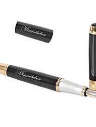 estilo de negócio prémio personalizado de presente preta de metal caneta de tinta gravado