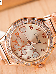 Lady'S Quartz Alloy, Switzerland Watch The Sun Wen Steel Band Watch