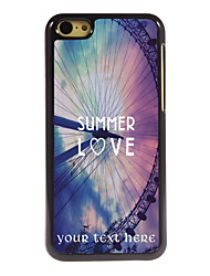 Personalized Gift Summer Love Design Aluminum Hard Case for iPhone 5C
