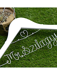 Personalized Wedding Dress Hanger with Heart Shape, Custom Bridal Bridesmaid hanger, Wire Name Hanger WH006