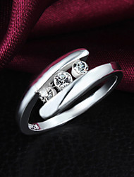 Silver Plated Party/Daily Elegant Band Rings 1pc