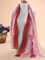Hot selling new rainbow printed chiffon scarf shawls scarves