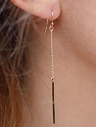 Women's Fashion Alloy Bar Dangle Earrings