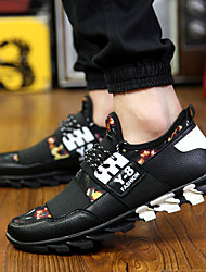 Men's Shoes Casual Fabric Fashion Sneakers Black
