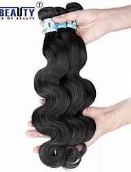"""1 pc / lot 12 """"-30"""" 5a peruanische reine Haarkörperwellen-Menschenhaareinschlagfäden 100% unverarbeitetes peruanisches remy Haar spinnt"""