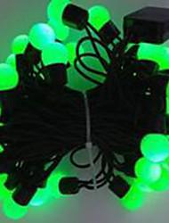 6w 5 metro di diametro esterno lampadina 50pcs ha condotto le luci della stringa di modellazione piccole luci a sfera, colore verde