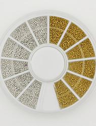 Mini Beads 3D/UV Gel Nail Art Acrylic System Decoration Nail Art Tips Silver& Gold