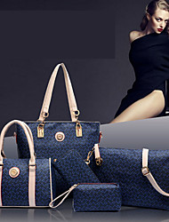 Handcee® Best Seller Newest Fashion Woman PU 5 Pieces Picture Package