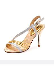 Women's Shoes  Stiletto Heel Heels/Peep Toe Sandals Office & Career/Casual Black/White/Gold